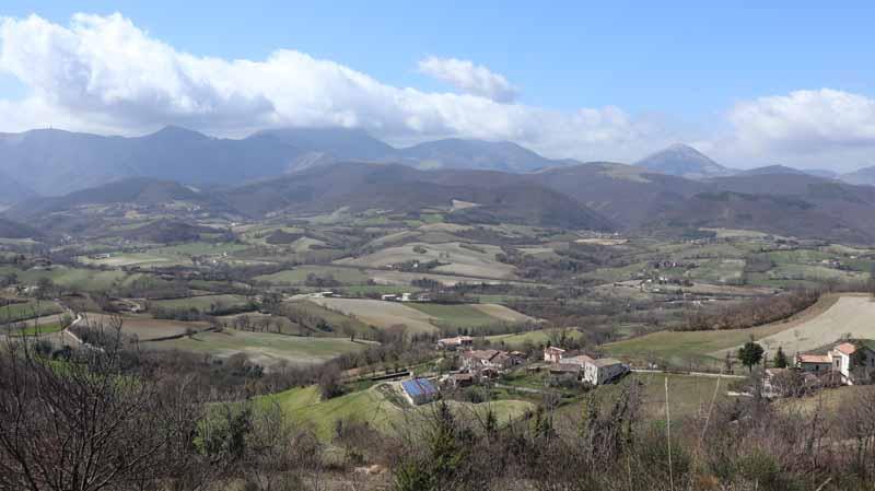 Panorama a metà del sentiero
