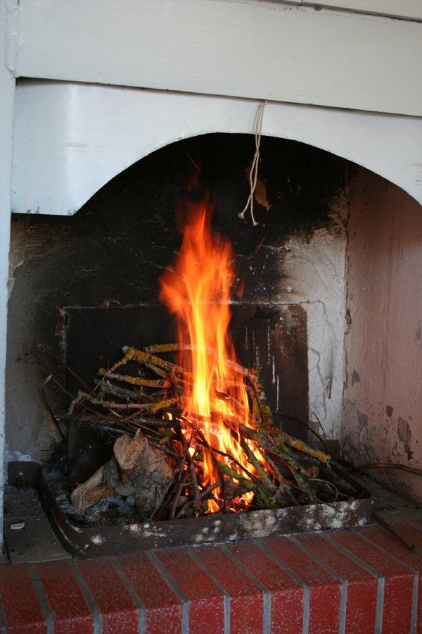 Vista da dentro la cucina villa villacolle - Camino nell angolo ...
